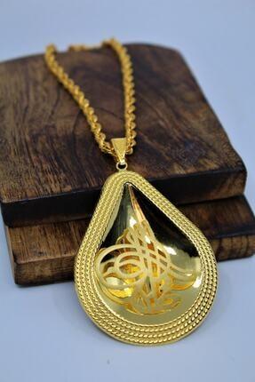 Yıldız Kuyumculuk 14 Ayar Altın Osmanlı Tuğralı Çerçeveli Kolye