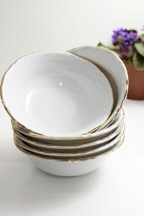 Porland 6'lı Yaldızlı 13 Cm Porselen Kase