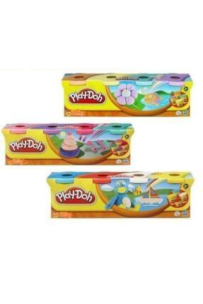 Play Doh Oyun Hamuru 4 Renk 448 gr 3 Adet