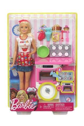 Barbie Pasta Şefi Bebek ve Fırın Oyun Seti FHP57-FHP57