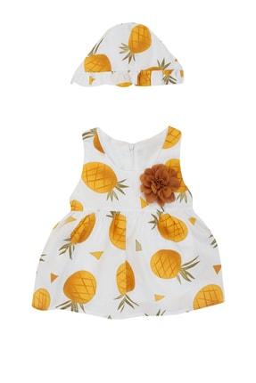 Pattaya Kids Kız Bebek Şapkalı Kolsuz Elbise 3-18 Ay