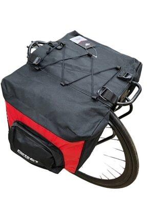 AnkaShop Bike 1812 40 Lt Kırmızı Bisiklet Arka Heybe Çanta Port Bagaj Çantası Su Geçirmez 1000d Sağlam Kumaş
