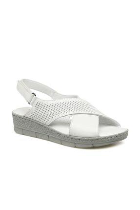 Polaris Kadın Beyaz Sandalet 161850.z1fx