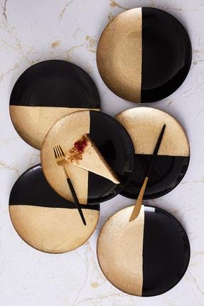 Karaca Black Gold 6 Parça Pasta Seti