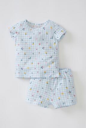 DeFacto Kız Bebek Pötikareli Kısa Kollu Pamuklu Pijama Takımı
