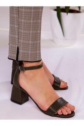 ayakkabıhavuzu Kadın Haki Topuklu Ayakkabı