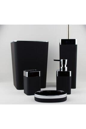AROW Akrilik Banyo Seti Mat Siyah 5 Parça