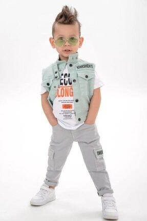 Riccotarz Erkek Çocuk Molong Yelekli Kot Alt Üst Takım