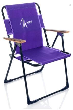 entarzlife Katlanır Kamp Sandalyesi Plaj Sandalyesi (mor)