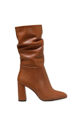 Nine West UMBRIA Taba Kadın Ökçeli Çizme 100582155