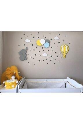 HandyShop Bebek Çocuk Odası Ahşap Dekoratif Aydınlatma Set 3'lü