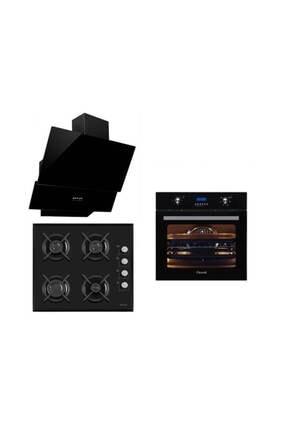 Ferre İtaliano Black 3'Lü Ankastre Set ( 7002 + S1140  + Sfme 600 )