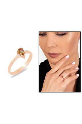 Tesbihane Kadın Rose Starlight Diamond Zultanit Taşlı Damla Kesim 925 Ayar Gümüş Yüzük