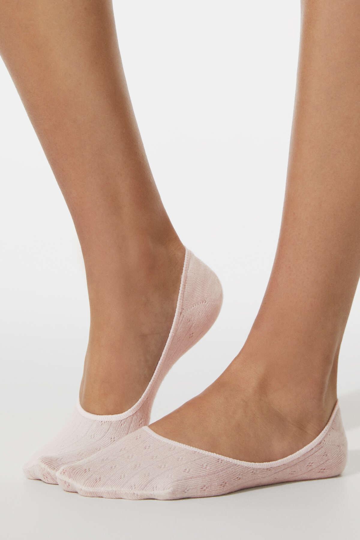 Oysho Kadın Yeşil 3 Çift Minik Delikli Görünmez Çorap 32563487
