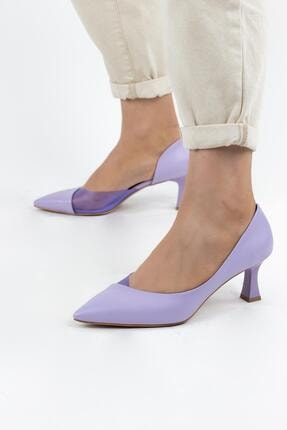 Gökhan Talay Mirinda Renkli Şeffaf Detaylı Kadın Topuklu Ayakkabı