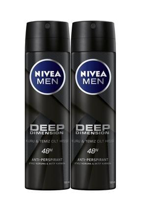 Nivea Men Deep Dimensıion Sprey Deodorant Erkek 150 ml 2'li Avantaj Paketi