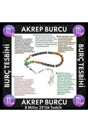 OSMANLI DOĞAL TAŞ Akrep Burcu 33'lük Tesbih Göz Akik-kan Taşı-kaplan Gözü-kahve Akik-anyolit