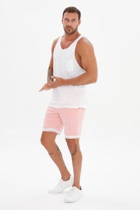 TRENDYOL MAN Siyah-Beyaz Erkek 2'li Paket Atlet TMNSS21AL0190