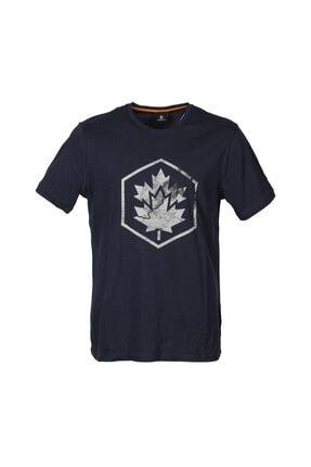 lumberjack CT635 MAPPY LOGO T-SHIRT Lacivert Erkek T-Shirt 101028323