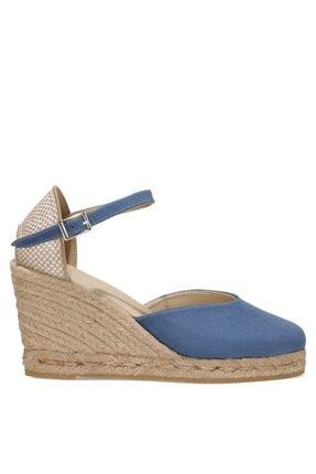 İnci Amatıso 1fx Mavi Kadın Dolgu Topuklu Sandalet