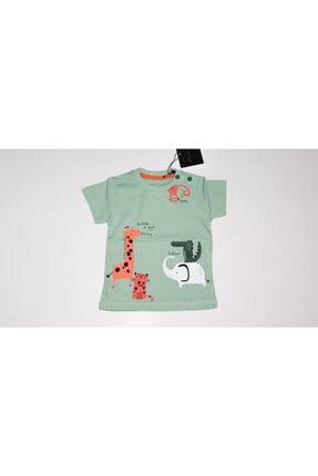 Divonette Erkek Bebek Dinozor Maymun Baskılı Tişört