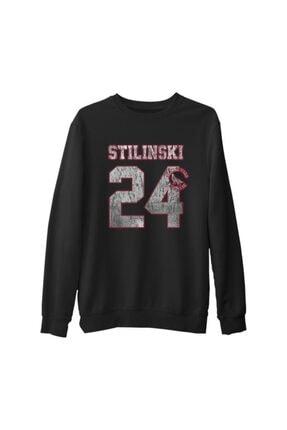 Lord T-Shirt Erkek Teen Wolf Stilinski 24 Siyah Kalın Sweatshirt