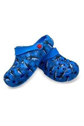Akınal Bella Erkek Çocuk Lacivert Köpek Balığı Tasarımlı Sandalet Terlik