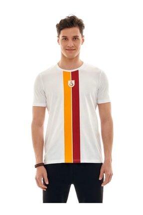 Galatasaray Beyaz Çubuk Tshirt