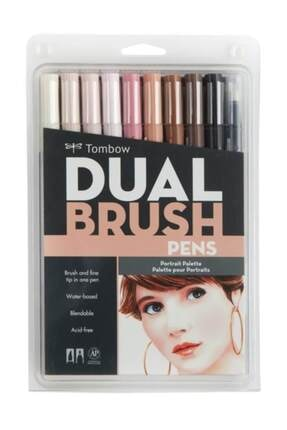 Tombow Dual Brush Pen 10 Renk Set Portraıt
