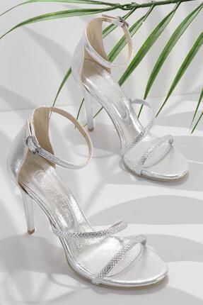 Bambi Lame Kadın Abiye Ayakkabı K01527250736