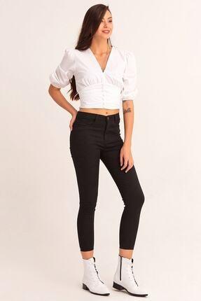 Fulla Moda Yüksek Bel Dar Paça Pantolon