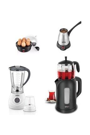 Sinbo 4 Lü Çeyiz Seti Çaycı, Blender, Çelik Cezve, Yumurta Pişirme