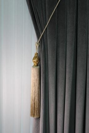 ŞİRİNLER Luxury Tavan Braçol (nohut) Ananas Altın - Lüks Fon Perde Korniş Bağlama Aksesuarı