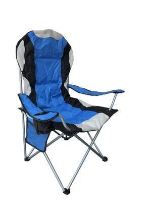 General Camp Snowraın Xl Büyük Kamp Sandalyesi Mavi Siyah Xl