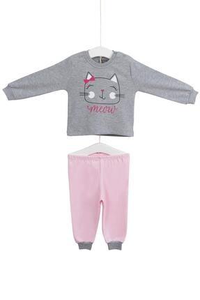 Aziz Bebe Kız Çocuk Uzun Kollu Pijama Takımı 3-6 Yaş Azz009414