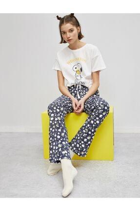 Koton Kadın Mavi Pijama Takımı