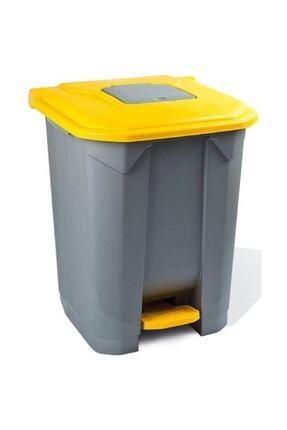 Planet Konteyner Bahçe Çöp Kovası 50 Lt Sarı Kapak