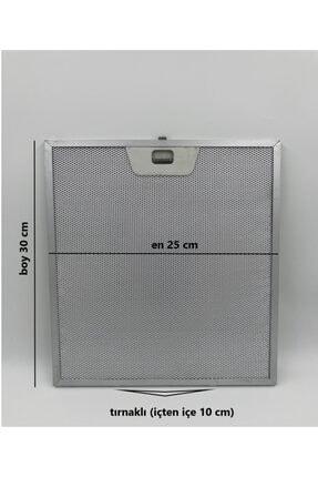 Bosch 25x30 Cm Tırnaklı Arçelik Ankastre Aspiratör Davlumbaz Alüminyum Yağ Filtresi