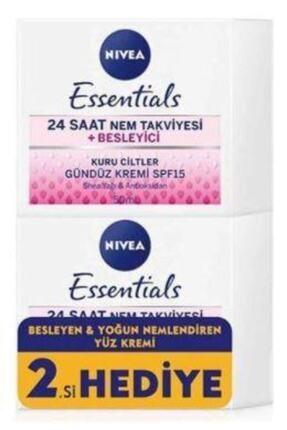 Nivea Essentıals Besleyici Gündüz Kremi Kuru Ciltler 50 ml 1+1 Set