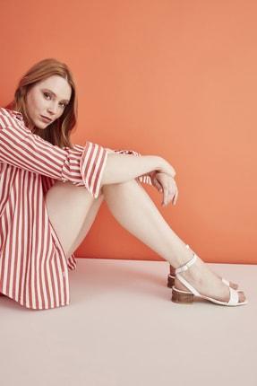 Hotiç Beyaz Kadın Düz Sandalet