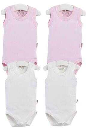 Pattaya Kids Kız Bebek Çıtçıtlı Kolsuz 4lü Zıbın Takımı 0-36 Ay Ptk20s-405