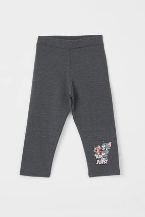 DeFacto Kız Çocuk Tom Jerry Lisanslı Kapri Boy Tayt
