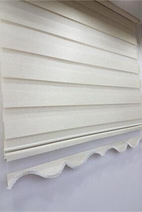 Taç Beyaz Bambu Zebra Perde