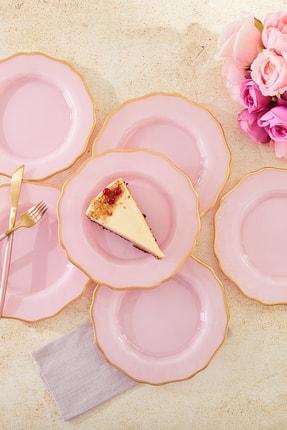 Karaca Empire Pembe 6lı Pasta Seti
