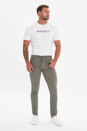 TRENDYOL MAN Haki Erkek Skinny Pantolon TMNSS21PL0688