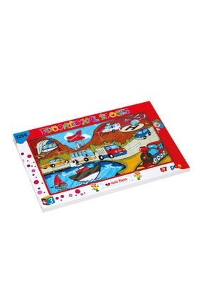 Nubutik's Erkek Çocuk Resimli Taşıtlar Puzzle 67 Parça