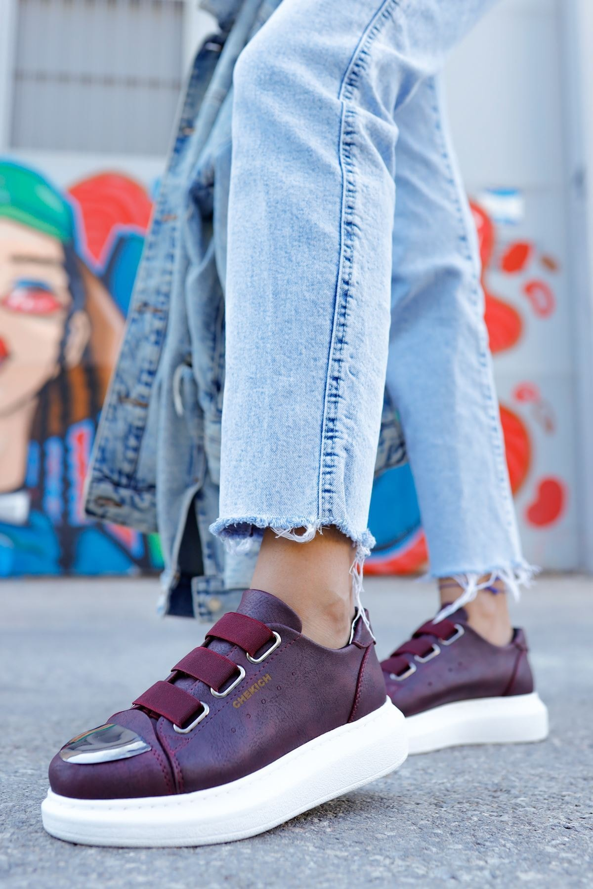 Chekich Ch251 Bt Kadın Ayakkabı Bordo 1
