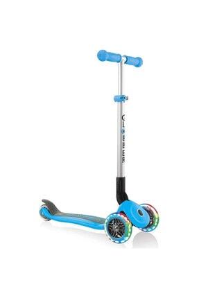 Globber Primo Katlanabilir Işıklı Mavi Çocuk Scooter