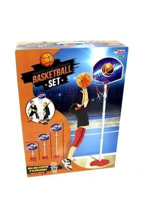 DEDE Unisex Çocuk Mavi Ayaklı Basketbol Seti
