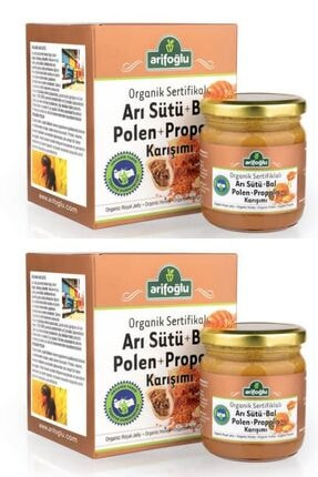 Arifoğlu Organik Arı Sütü Bal Polen Propolis 230gr X 2li Paket